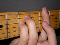 Movable A Minor Barre Chord
