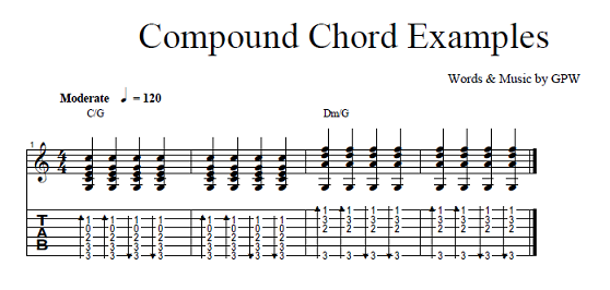 Compound Chords Examples