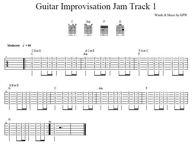 Guitar Improvisation Jam Track 1