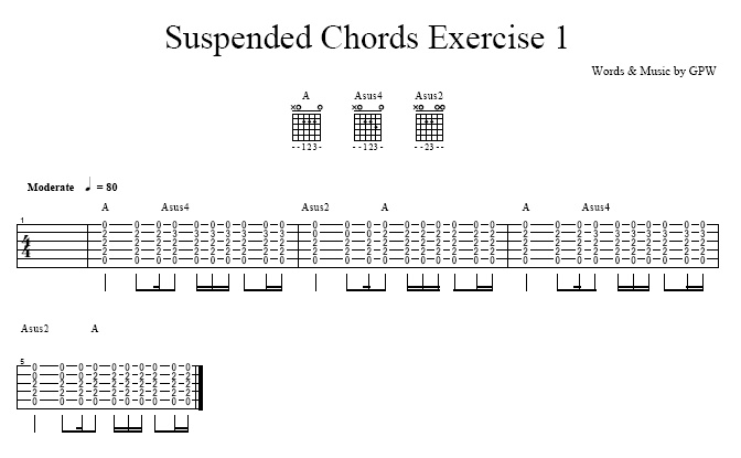 Suspended Chords Exercise 1