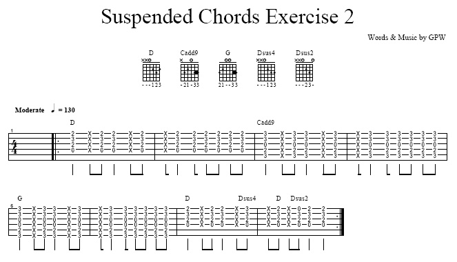 Suspended Chords (Sus) to Add Flavor In Your Playing