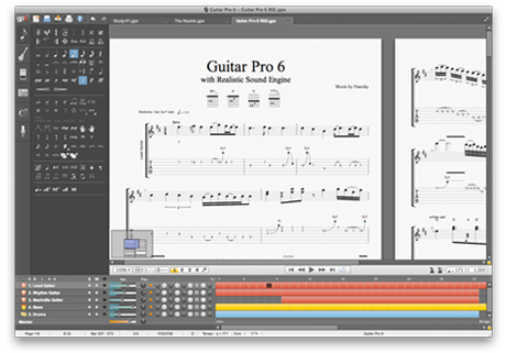 guitar pro 6 interface
