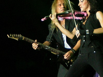 jamming with violinist